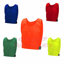 Training BIBS 10 TEN FOOTBALL SPORTS Youth Orange Yellow WATERPROOF Neon Quality