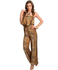Animal Print,  Brown& Black Jumpsuit Made in U.S.A.  Sugarmint