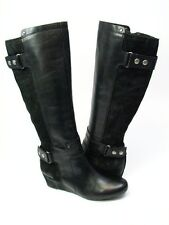 Franco Sarto Artist Collection Indiana Black Bota Leather/Suede Knee High Boots