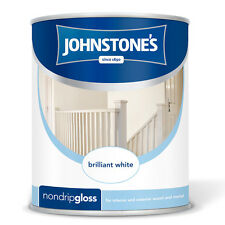 JOHNSTONE'S NON DRIP GLOSS PAINT 750ml COLOUR FOR INTERIOR EXTERIOR WOOD & METAL