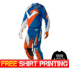 2015 Troy Lee GP Air YOUTH MX Motocross Kit Combo Vega Blue Orange