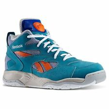 Reebok M43354:Classic Dee Brown Pump D-Time TEAL Leather Basketball Sneakers MEN