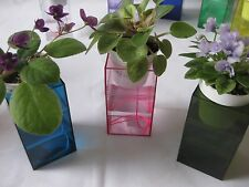 Self-watering Clear Acrylic Reservoir for African Violets in 11  colors