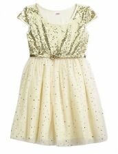 NWT Justice Girls Silver Sparkle Belted Sequin Tulle Party Dress UPick Sz NEW
