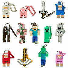 "Minecraft Hangers 3"" Figures - 3D Keyring Keychain Belt Clip Choose your own!"