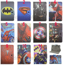 Kids Folio Flip Cute Cartoon Super Hero Leather Stand Case Cover For Acer Tablet
