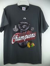 Chicago Blackhawks NHL Majestic Grey 2010 Stanley Cup Finals Locker Room T-Shirt