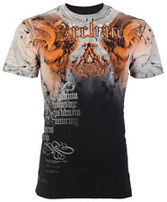 Archaic AFFLICTION Mens T-Shirt NIGHTWATCHER Skulls Tattoo Biker UFC M-3XL $40 h