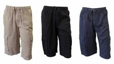 NEW Mens Cotton Drill Work Utility Casual Cargo Shorts Black Navy Khaki S-2XL