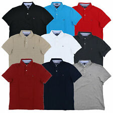 Tommy Hilfiger Polo Mens Custom Fit Mesh Shirt Solid Short Sleeve Collared New