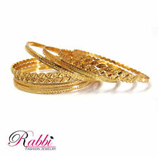 18K Gold Plated Indian Albela 8 PCS BANGLES Bracelet SET Ethnic