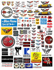 1: 24 1:18 CHEVY CORVETTE DECALS FOR DIECAST & MODEL CARS & DIORAMAS
