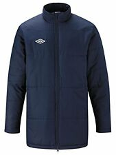 UMBRO MENS PADDED JACKET FOOTBALL COACH SPORTS TRAINING WINTER COAT BLACK & NAVY