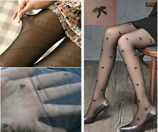 NEW Stylish Black Sexy Lady Girl Pattern Jacquard Pantyhose Tights Stockings