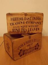 Rustic Antique Vintage Handmade Wooden Boxes/Crates Shabby Trugs Kitchen Storage