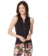 Aeropostale Womens Lace Tie-Front Button Up Shirt