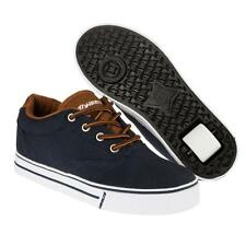 Heelys Launch 2.0 Kids'/Adult Size Wheel Shoes/Trainers/Skates - Navy/Chocolate