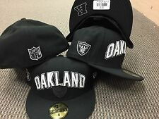NEW ERA 5950 Oakland Raiders Black White Fitted HAT Draft CAP 59fifty Authentic