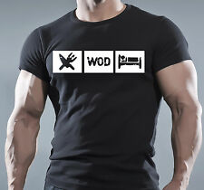 Crossfit WOD Functional Training Workout Fitness Sport Black T-Shirt MMA WWE UMC