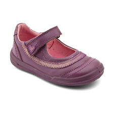 Start-rite Flexy-Soft Feather New Girls First Walking Shoes In Purple Leather