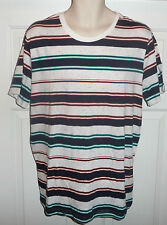 NWT BDG Urban Outfitters Slim Fit Crew-Neck Striped Fleck White Multi T-shirt