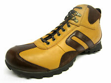 Mens Caterpillar Mustard/Brown Leather Lace Up Ankle Boots DELMAR HI