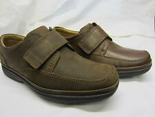 Clarks 'Swift Turn' Mens Walnut Leather Or Tobacco Nubuck Casual Shoes Wide Fit