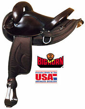 "Endurance Saddle - Big Horn - Brown Synthetic Cordura and Leather -15"" or 16"""