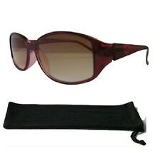 Sun Readers Ladies Burgundy Designer Tinted Reading Glasses UV Protected Lens604
