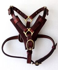 YESRD  New Fabulous Leather Dog Control Harness Soft Padding LDH-006