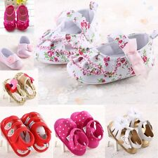 New Baby girls shoes sandals infant toddler crib 0-18 months 3 sizes beautiful