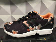 Adidas ZX Flux Black Pink White Rose Women Sz 6-10 MultiColor Lady Girl Leopard