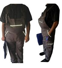 Cotton Drill Bib and Brace Overalls Painters Decorators Coverall 2 hip pockets