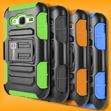 Belt Holster Cover Hybrid Stand Case Samsung Galaxy Prevail LTE / Core Prime