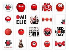 Red Nose Day / Comic Relief Iron on T Shirt heat Transfer diy free postage