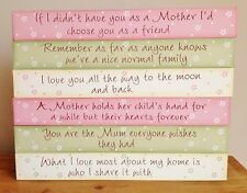 Mother's Day Gift for Mum Family Love Wooden Signs Plaque Shelf Sitter