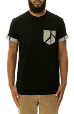 Karmaloop Allston Outfitter The Patterned Pocket Roll Up Tee Black & Gray