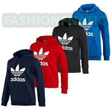 Adidas Originals Mens Iconic Trefoil Fleece Hooded Sweatshirt Hoodie (#X4118)