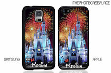 Disney Cinderella Castle Night Fireworks Personalized With Your Name Phone Case