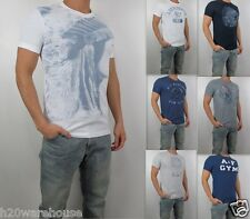 Abercrombie & Fitch Men Muscle Fit Vintage Woodsfall Trail Wolf Pond Tee T Shirt
