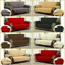 QUILTED JACQUARD SOFA PROTECTOR SOFA SLIP COVER 1,2,3 SEATER Alternate to Throw