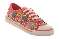 BABYCHAM WOMENS FLO PINK CANVAS TRAINERS SHOES (R3B)