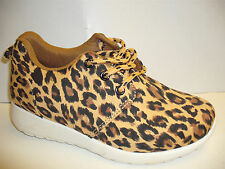 Girls Leopard Print Lace Up Trainer Size 10- 2.5