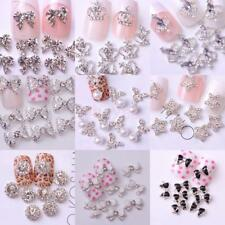 10PCs 3D Glitter Rhinestone Nail Art Tips Manicure DIY Decorations - Assorted