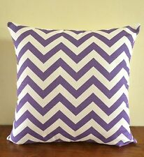 Purple & White zig zag/ chevron cushion cover 45cm x 45cm
