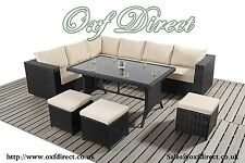 Quality Rattan Corner Sofas - Includes Glass Topped Table - 28 Styles available