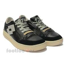 Men's Lotto Leggenda 1973 Corrado N6636 Shoes Sneakers Tennis Vintage Black Limi