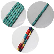 3x5-6x9mm Blue Multicolor Turquoise Tube Loose beads 15""