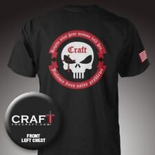 NEW Craft International Official Tee V 3 BLACK T-Shirt Crew Punisher Chris Kyle