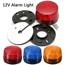 Color Blue Red 12V LED Security Alarm Strobe Signal Warning Flashing Light Lamp